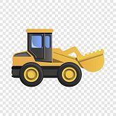 Wheel Excavator Icon. Cartoon Of Wheel Excavator Icon For Web Design poster