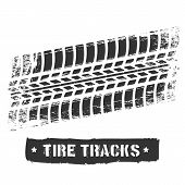 Tire Track Print. Car Or Motorcycle Tread Design, Dirty Road Rubber Motocross Bike Printed Texture,  poster