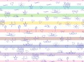 Seamless Pattern Little Princess. Soft Colors Sketch, Cute Doodle Baby Elements. Princess Concept. C poster