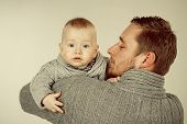 I Love You, Dad. Fathers Or Family Day. Handsome Man With Little Child. Father And Son. Father And C poster