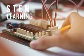 Stem Education For Learning, Electronic Board For Be Program By Robotics Electronics In Laboratory I poster