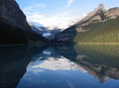 Lake Louise, Reflection Of The Far Side - Banff National Park, Alberta, Canada