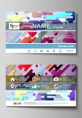 Business Card Templates. Abstract Vector Design Layouts. Bright Color Lines And Dots, Colorful Minim poster