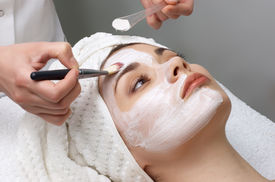 image of face mask  - beauty salon series - JPG