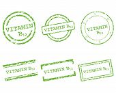 stock photo of b12  - Detailed and accurate illustration of vitamin B12 stamps - JPG