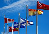 The Canada And Its Provincial Flags