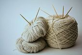 Cotton yarn and needles