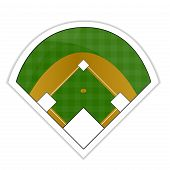 stock photo of hitter  - An Illustration of a Baseball Field Sticker - JPG