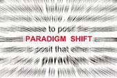 picture of quantum  - paradigm shift concept with focus on the word paradigm shift - JPG