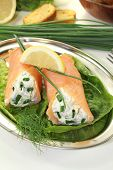 Stuffed Smoked Salmon Rolls