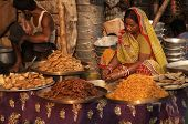 Indian Lady Selling Sweets