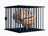 Human Brain Locked In Cage