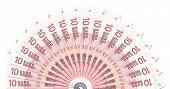 10 Euro Notes Half Circle Template