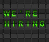 We Are Hiring Flip Board