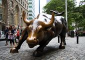 NEW YORK - JUNE 24: Wall Street Charging Bull during the period of economic recovery in the United S