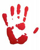Red hand-print