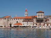 Trogir, Croatia - July 10: Tourists Sightseing Trogir Unesco World Heritage Site, Is One Of The Most