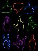 Neon Hands