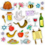 stock photo of tora  - symbols of rosh hashanah  - JPG