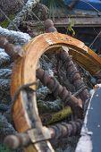 old ship's rudder