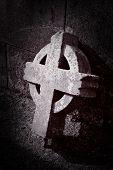 Old Broken Celtic Cross