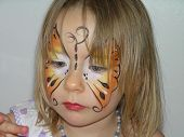 Face Painted Butterfly Girl