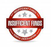Insufficient Funds Seal Illustration Design