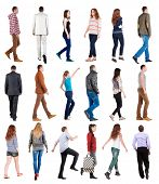 picture of side view people  - collection  - JPG