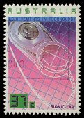 AUSTRALIA - CIRCA 1987: A Stamp printed in AUSTRALIA shows the Bionic Ear, Achievements Technology s