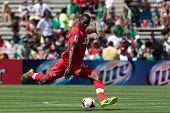 PASADENA, CA - JULY 7: Doneil Henry #20 of Canada during the 2013 CONCACAF Gold Cup game between Can