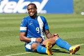 PASADENA, CA - JULY 7: Frederic Piquionne #9 during the 2013 CONCACAF Gold Cup game between Canada a