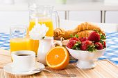 stock photo of continental food  - continental breakfast - JPG