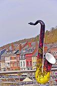 View from Bridge of Dinant, Belgium