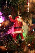 Santa Claus Ornament On Christmas Tree