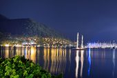 Yachts At The Pier And Beach In Night Illumination, Marmaris, Turkey