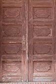 Old wooden mission door.