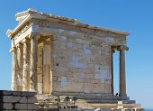 picture of ionic  - The Temple of Athena Nike is a temple on the Acropolis of Athens - JPG
