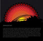 Australia Aboriginal art stylized vector background