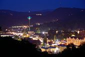 stock photo of view from space needle  - The skyline of downtown Gatlinburg - JPG