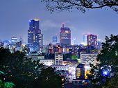 Skyline of downtown Sendai, Japan.