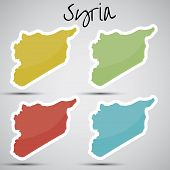 stickers in form of Syria