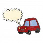 retro cartoon car honking horn