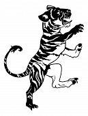 Stylised Tiger Illustration