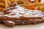 Pork Chop Steak With Black Pepper Gravy