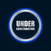 Vector Under Construction Sign With Plasma Design