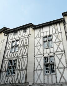 pic of poitiers  - Medieval half timbered buildings in Poitiers France - JPG