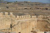 Linods Acropolis on Rhodos Ancient Archeological site, Greece