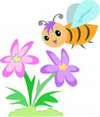 Sweet Bee and Flower