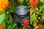 Garden frog ornament