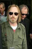 Tom Petty at the ceremony posthumously honoring George Harrison with a star on the Hollywood Walk of